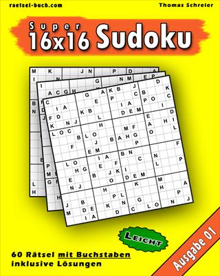 16x16 Buchstaben Leicht