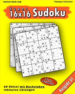 16x16 Buchstaben Schwer